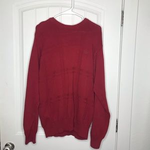 Izod Thick Warm Red Sweater for Men